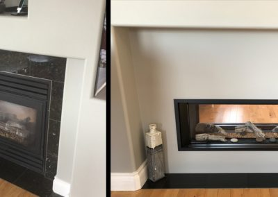 Valor L1 see through fireplace upgrade